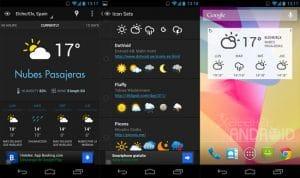 15 aplicaciones y widgets del tiempo para android