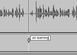 Adding a label to a track in Audacity