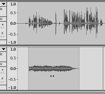Mixing two tracks together in Audacity