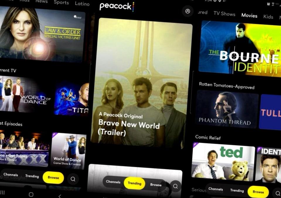 ¿Vale la pena Peacock? Capturas de pantalla de Android