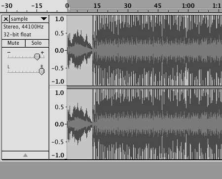 Stereo track in audacity